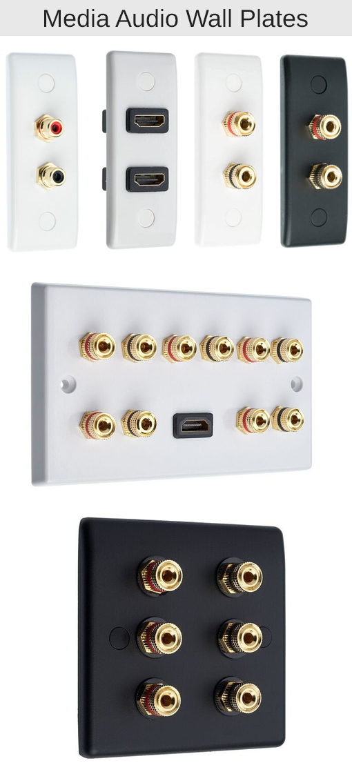 Audio Wall Plates