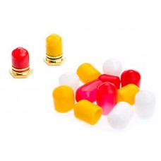 12 RCA Dust / Socket Caps 4 Red 4 Yellow 4 White