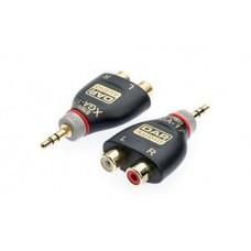 1X RCA Splitter/Adapter Socket x2 (Female) to 3.5mm Jack (Male) Gold / OFC XGA17