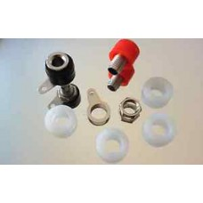 2 Quality low Profile Nickel Speaker Binding Posts takes 4mm Banana Plugs