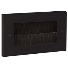Black Brush Stripe Cable Entry single 2 Gang Wall Face Plate Outlet