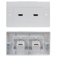 2 x HDMI Wall Face Plate