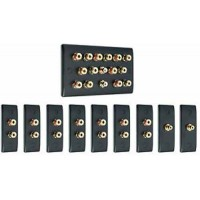Matt Black 7.2 Surround Sound Audio AV Speaker Wall Face Plate Kit - NON SOLDER
