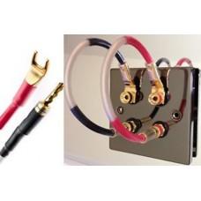 QED Balanced Design 4 Speaker Jumper Cable Leads - Digital Banana/Spades