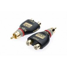 QTY 1X RCA Splitter / Adaptor Socket x2 (Female) to RCA Socket (Male) Gold XGA42