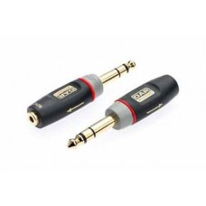 "QTY X1 3.5mm Stereo Jack Socket to 6.35mm (1/4"") Stereo Jack Plug XGA13"