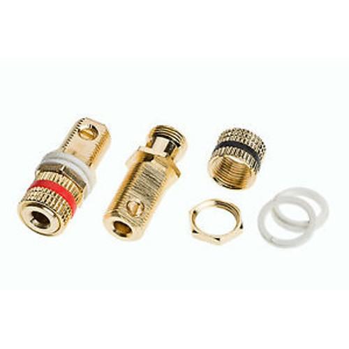 2 Quality 24k Gold Solderless Speaker Terminal Binding