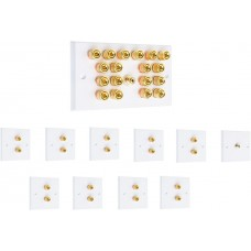 Complete Dolby 9.1 Surround Sound Speaker Wall Plate Kit  With Rear Solder Tabs