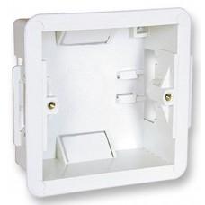 Flush Fit 1 Gang plastic Dry Lining Dry Wall Back Box Pattress Extra Deep 47mm