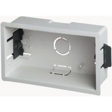 Flush Fit 2 Gang plastic Dry Lining Dry Wall Back Box Pattress Extra Deep 47mm