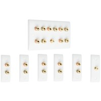 Complete Dolby 5.1 Surround Sound Speaker Wall Plate Kit - Slimline - No Soldering Required