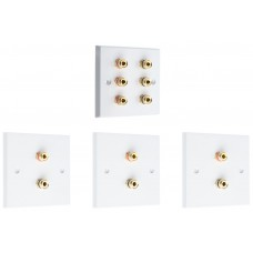 Complete Dolby 3.0 Surround Sound Speaker Wall Plate Kit - No Soldering Required