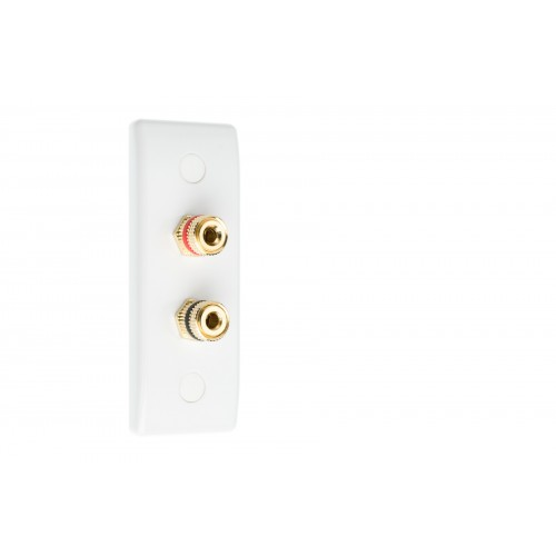 WHITE Electrical Wallplate Empty Plate 1 x 2 Gang Architrave Switch Plate