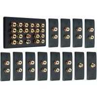 Matt Black 10.2 Surround Sound Audio AV Speaker Wall Face Plate Kit - NON SOLDER