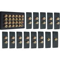 Matt Black 11.2 Surround Sound Audio AV Speaker Wall Face Plate Kit - NON SOLDER
