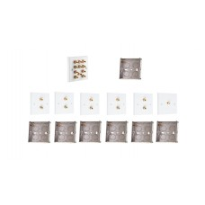 Complete Dolby 5.1 Surround Sound Speaker Wall Plate Kit - No Soldering Required
