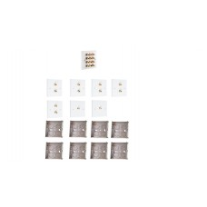 Complete Dolby 5.2 Surround Sound Speaker Wall Plate Kit - No Soldering Required