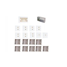 Complete Dolby 7.2 Surround Sound Speaker Wall Plate Kit - No Soldering Required
