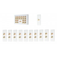 Complete Dolby 10.1 Surround Sound Speaker Wall Plate Kit - Slimline - No Soldering Required