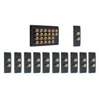 Matt Black 11.0 Surround Sound Audio AV Speaker Wall Face Plate Kit - NON SOLDER