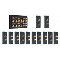 Matt Black 12.0 Surround Sound Audio AV Speaker Wall Face Plate Kit - NON SOLDER