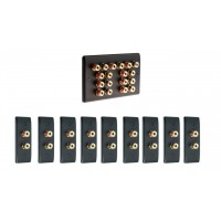 Matt Black 9.0 Surround Sound Audio AV Speaker Wall Face Plate Kit - NON SOLDER