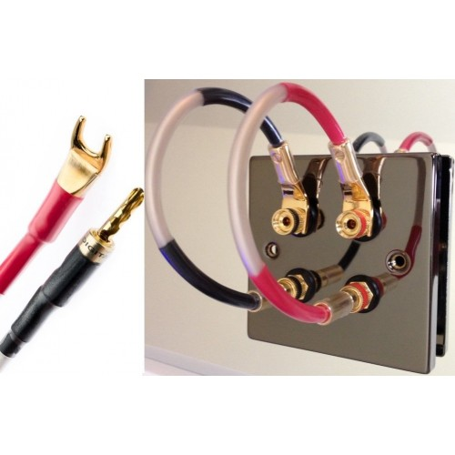 qed balanced design 4 speaker jumper cable leads digital banana spades. Black Bedroom Furniture Sets. Home Design Ideas