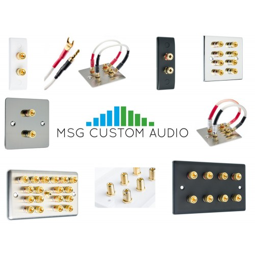 Complete 7.2 Audio Surround Sound Speaker Wall Face Plate kit