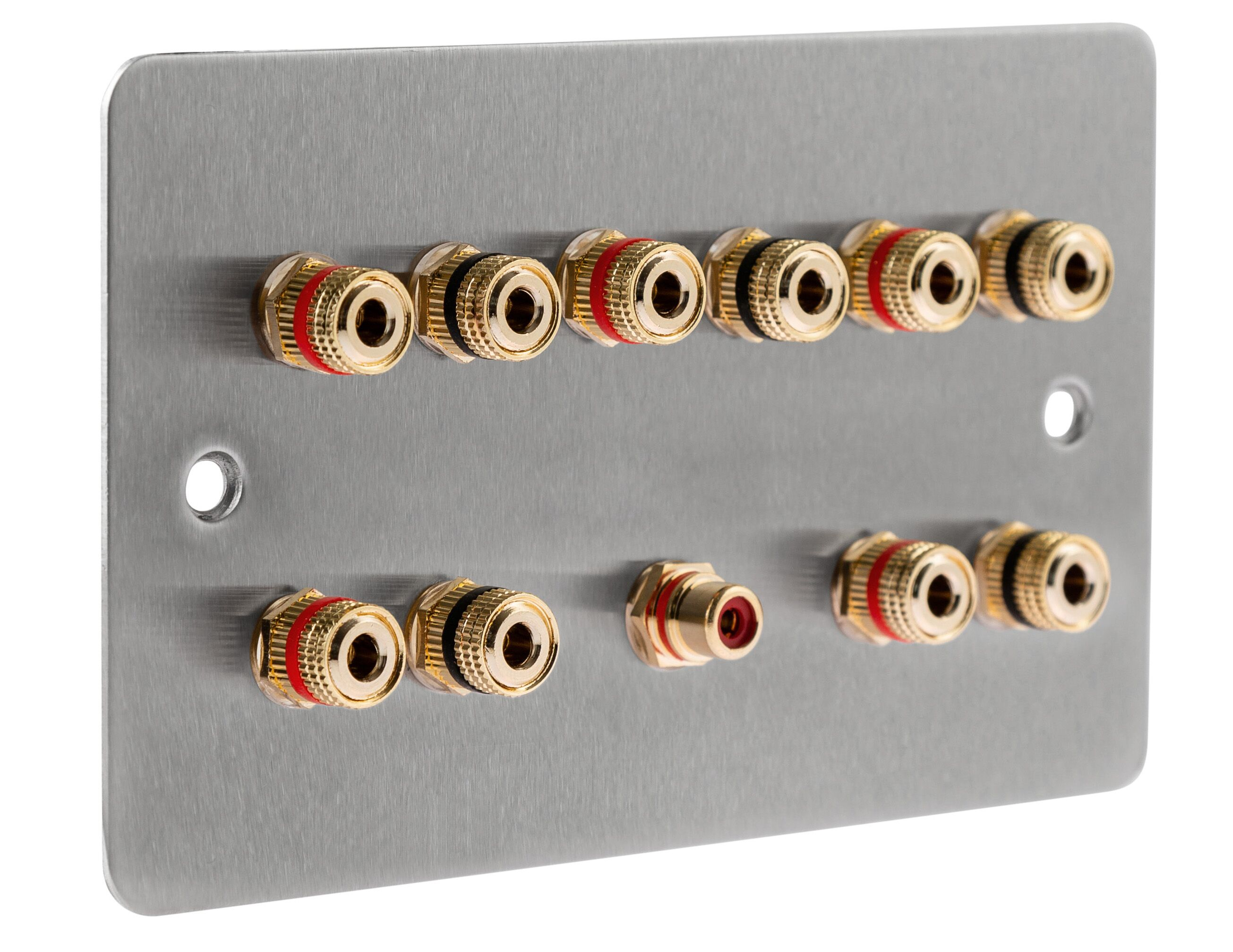 5.1 Speaker Wall Face Plate Complete Audio AV Surround Sound Kit audio Solder
